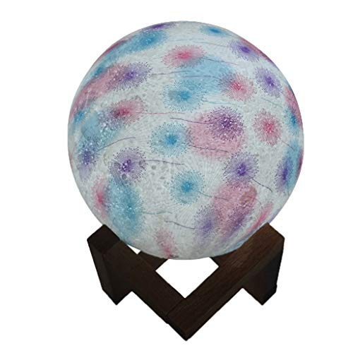 Dtuta Moonlight Kinder Geschenk Kreative Tischlampe Gemalt LöWenzahn Led 3D Nachtlicht Gibt Geschenke SchöNe Ideen