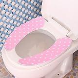 1 coppia magico adesivo bagno wc closestool scaldino lavabile morbido sedile lavabile copertina pastiglie ramdon colore