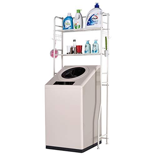 Rttzw ripiano per lavatrice cremagliera lavatrice in ferro battuto balcone lavanderia mobile lavatrice tamburo ripiano superiore ripiano 2 strati (bianco avorio)