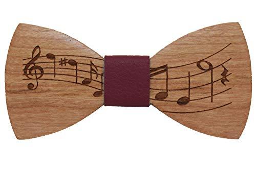 Papillon legno note musicali papillon legno iniziali gratuite uomo abbigliamento accessori uomo papillon cerimonia accessori moda matrimonio