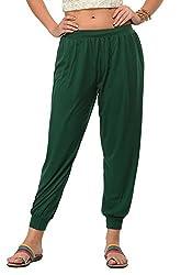 Frenchtrendz Womens Dark green Harem pants (Medium)