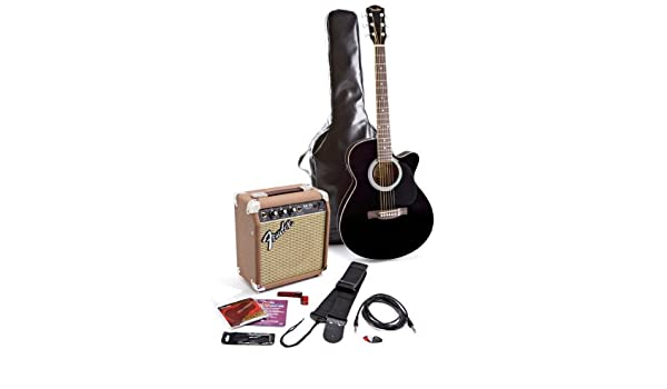 Fender fa 130 acoustic electric guitar pack black amazon fender fa 130 acoustic electric guitar pack black amazon musical instruments publicscrutiny Gallery