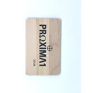 proxima1USB 2.0Ultra Slim Geldbörse Kreditkarte USB-Stick USB Flash Drive Perfekte Passform–Brieftasche–USB mit TS007Design USB Memory Stick 32 GB