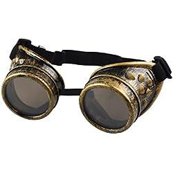 zolimx Estilo vintage Steampunk gafas soldadura gafas Punk divertidos (D)