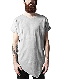 Urban Classics Asymetric Long Tee, T-Shirt Homme
