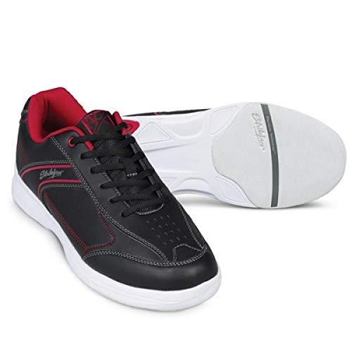 EMAX KR Strikeforce Flyer Bowling-Schuhe Damen und Herren, für Rechts- und Linkshänder in 6 Farben Schuhgröße 38-48 wahlweise mit Schuh-Deo Titania Foot Care (Lite Rot/Schwarz, US 6,5 (39))