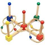 Einsgut Gioco di Lancio dell'anello Esterno Gioco di Lancio dell'Anello di attività del Cerchio di Lancio Multicolore per i Giochi dell'interno all'aperto dei Bambini