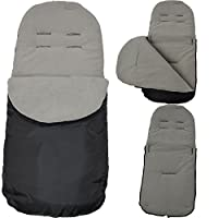 Footmuff / Cosy Toes Compatible with Maclaren Techno XT/ Quest / XLR / Volo Grey