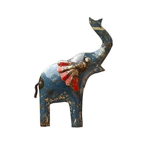 De Kulture Baseball-Kappe recyceltem Eisen Figur Mini Elefant Wandhalterung Visitenkarte 5x 3LW (Zoll) (-) (Miniatur-baseball-kappen)