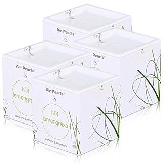 Air Pearls by ipuro N°4 lemongrass Duftkapseln 2x11,5g - Raumduft (4er Pack)
