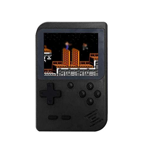 Cooljun Handheld Spielkonsole, Handheld Konsole 3 Zoll 168 Retro Spielkonsole Konsole Kinder Erwachsene Geschenk (Schwarz)