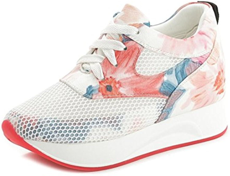 DANDANJIE Zapatos Deportivos de Mujer Zapatos de Malla de Superficie Aumentada Zapatos de Viaje Ocasionales Florales...