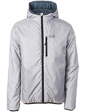 Rip Curl Revo Insulated, chaqueta con capucha para hombre, Hombre, 69-CJKDJ4, Negro, X-Large