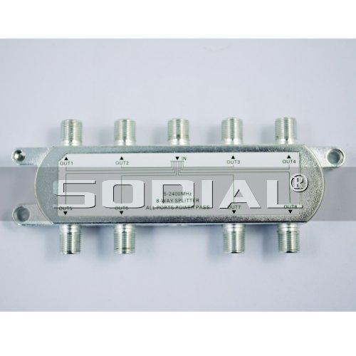 SODIAL(R) 8 Wege TV Hochfrequenz Koaxial Kabel Teiler f¨¹r CATV Signal 8-wege-koaxial Kabel