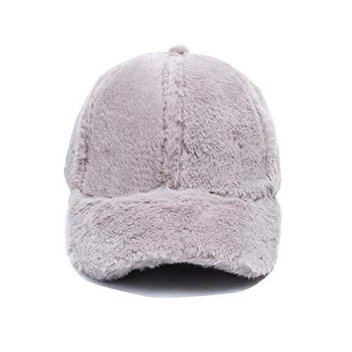 MuMa Chapeau Femelle L'automne Hiver Garantie Chaud Solide Couleur Loisir Couple Base-Ball Casquette