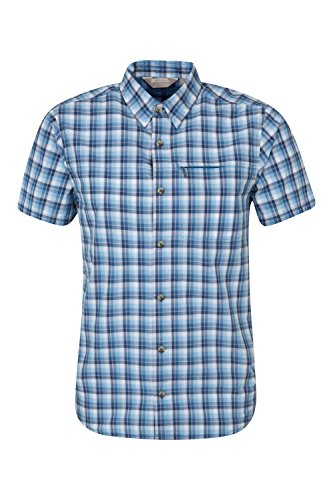 mountain-warehouse-holiday-mens-cotton-shirt-blau-x-large