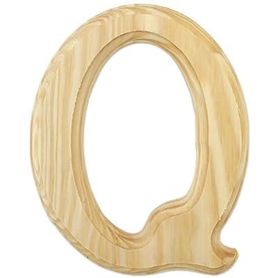 """Wood Letters 6""""-Letter Q"""