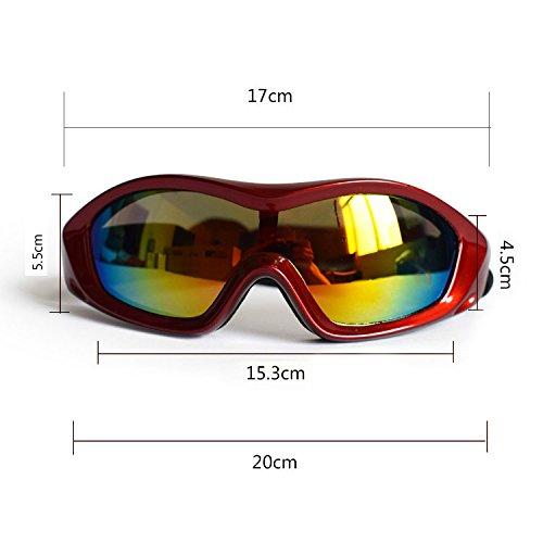 Aprigy - Sommer-Haustier-gro?e Hundesonnenbrille-Haustier-Gl?Ser Anti-UV-Gl?Ser f¨¹r gro?e und mittelgro?e Hunde verhindern UV-Strahlen [Rot ]