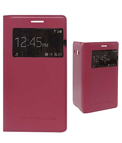 TBZ Premium S View Flip Cover Case -Fusion Red for Samsung Galaxy Grand 2  available at amazon for Rs.349