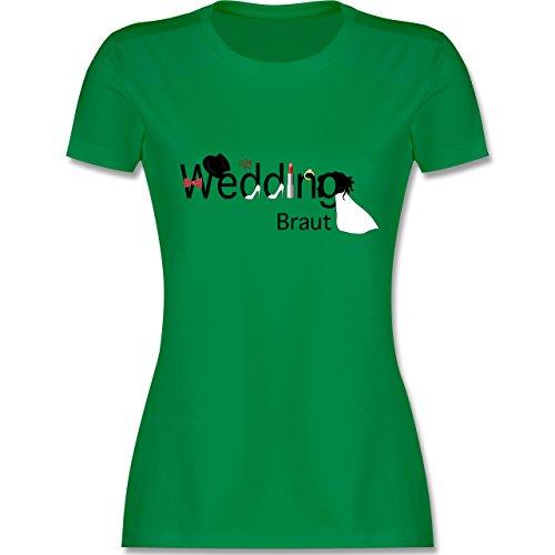 JGA Junggesellinnenabschied - Wedding Braut - S - Grün - L191 - Damen T-Shirt Rundhals