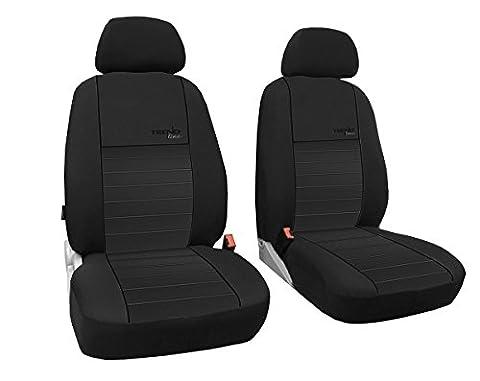 Dimensions gefertigter sitzbezuge/, modèle housses spezi Pêcheurs Housse de siège le siège conducteur + Siège passager pour Dacia Logan MCV partir de 2012meilleure qualité Housses en design Trend Line (Disponible en 7couleurs).