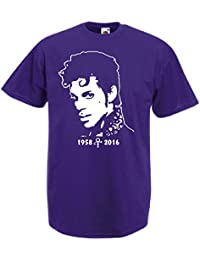 T-Shirt Prince Musik Memorial Tribute Music Shirt, S bis 5XL Fan Art