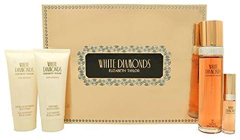 Elizabeth Taylor White Diamonds Gift Set 100ml EDT + 100ml Body Lotion + 100ml Shower Gel + 15ml EDP