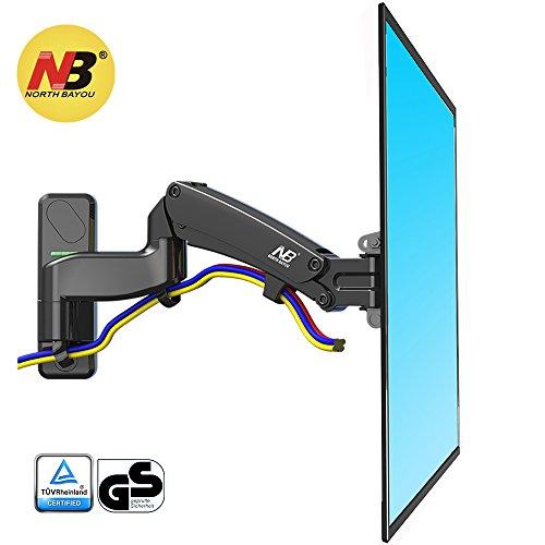 """NB North Bayou F450 40"""" - 50"""" Monitor Wandhalterung TV Ausziehbar Fernseher Halterung Schwenkbar Neigbar Universal LCD Wandhalter Curved 4K OLED QLED LED Flachbildfernseher 104cm-126cm VESA 200 300 400"""
