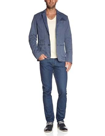 CAMPUS Herren Sakko Slim Fit 366 0386 80028, Gr. 48 (M), Blau (867 nordic blue)