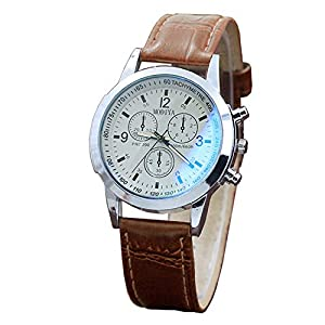 DQANIU❤️❤️Herrenuhr, Gürtel Sport Quartz Hour Wrist Analog Watch