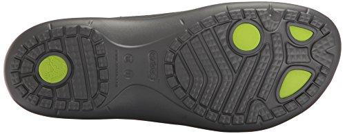 crocs Unisex-Erwachsene Modi Sport Flip Zehentrenner Grau (Graphite/Volt Green)