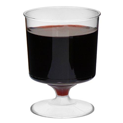 Verres à vin jetables 170,1 gram/170 ml – Lot de 12 – Plastique Transparent Verres à vin