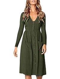 Mujer vestido largo Otoño Bohemian moda fashion 2018 Otoño,Sonnena Vestido de mujer con cuello