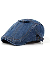 Qiusa Boinas lavadas Casuales Unisex Duradero Pintor Ajustable Sombrero Pato  Gorras (Color   Azul 3bcadc418a0