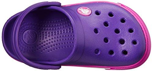 Crocs Crocband II.5  Sabot K, Zoccoli e sabot, Unisex bambino Rosa (Neon Purple/Neon Magenta)