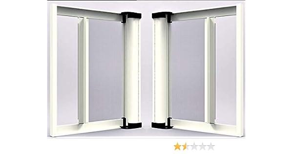 Webeingstore Zanzariera a rullo in alluminio per porte//balconi con profilo riducibile//regolabile avvolgimento orizzontale 150x250cm Bianca