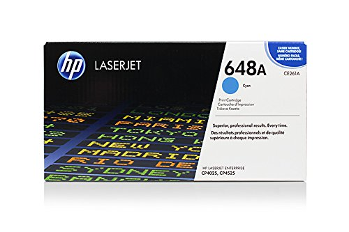 648 A Cyan Toner (HP Color LaserJet Enterprise CP 4025 N - Original HP / CE261A / 648A Toner Cyan -)