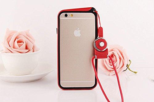 hapgo & # 8482; Bumper Rahmen Schutz Shell Tasche mit verstellbarem abnehmbarer Umhängeband Gel zum Aufhängen Umhängeband Halter Fall rot