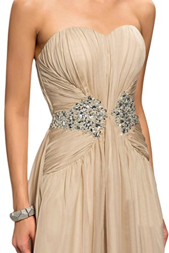 Toscana sposa stanotte moda a forma di cuore stanotte vestiti Chiffon damigella Party Ball Bete per vestiti Champagne