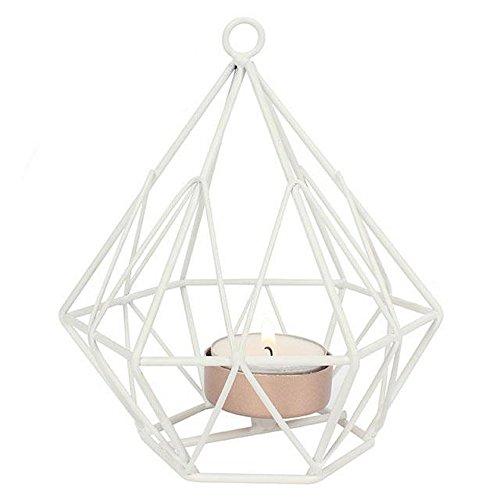 Something Different Teelichthalter aus weißem Draht (Einheitsgröße) (Weiß) (Draht Brust Weiß)