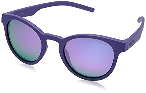 Polaroid Mirrored Round Women's Sunglasses - (PLD 7021/S B3V 49MF|49|Blue Color) image