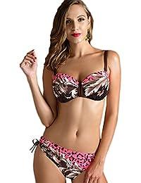 Réduction Manchester CHENGYANG Femmes Grande Taille Maillot De Bain 1 Pièce Bikini Floral Push Up Swimwear Rouge 2XL 2018 Nouvelle Ligne Jeu Exclusif Toutes Tailles XkF9HO