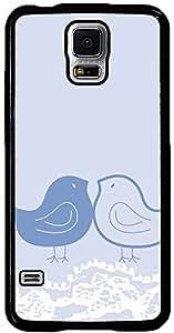 PrintVisa Pattern Cute Birds Blue Case Cover for Samsung Galaxy S5