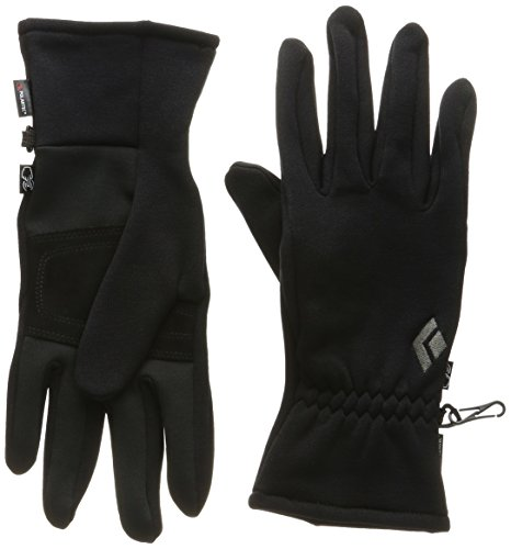 Black Diamond Midweight Screentap Handschuhe aus Fleece/Warme, Touchscreen-geeignete Fingerhandschuhe mit extra-Grip/Unisex, Black, Größe: XL