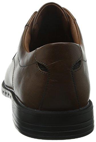 Clarks Unbizley View, Derby homme Marron (Tan Leather)