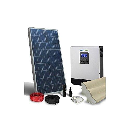 puntoenergia Italien-Solar Kit Camper 150W 12V LUX Panel Photovoltaik Wechselrichter 1200W 12V RV Wohnmobil-kcl-150-1500 150w Solar-panel