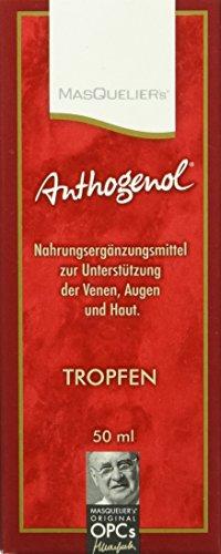 Masquelier's Original OPCs Anthogenol Tropfen 50 ml, 1er Pack (Haut Polyphenol Tropfen)