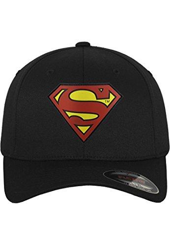 MERCHCODE Herren Superman Flexfit Cap, Blk, S/M