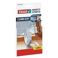 TESA Insect Stop Comfort sineklik pencere böcek koruması/cırt cırt şeridi-için yedek rulo beyaz/5,6M, 55387-00020-00