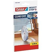 tesa Insect Stop Fliegengitter COMFORT Klettband-Ersatzrolle, 5,6 m